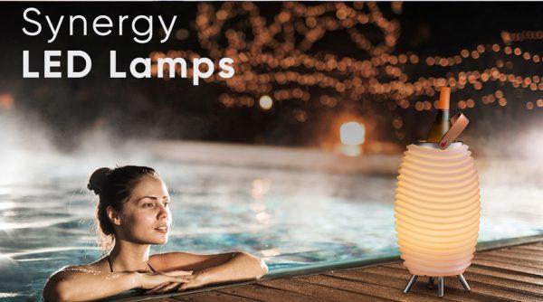 LED Leuchten mit Weinkühler und Bluetooth-Lautsprecher