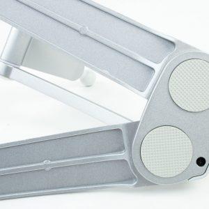 Smartcook-online Handy Halterung - Universal Küche Handyhalter zum Kleben oder Bohren - Ständer aus Aluminium für Smartphone - der Küchenhelfer