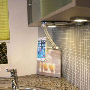 Universal Küche Handyhalter zum Kleben oder Bohren